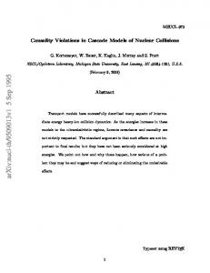Causality Violations in Cascade Models of Nuclear Collisions