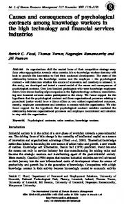 Causes and consequences of psychological contracts among ...