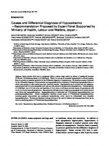 Causes and Differential Diagnosis of Hypocalcemia - J-Stage
