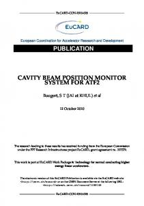 CAVITY BEAM POSITION MONITOR SYSTEM FOR ATF2