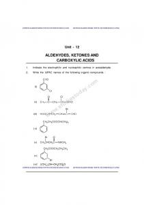 CBSE Class 12 Chemistry notes and questions for Aldehydes ...