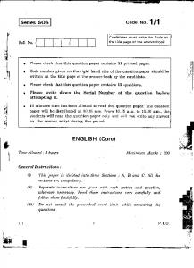 cbse class xii english core set i question paper 2011