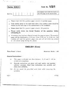 cbse class xii english core set iii question paper 2011