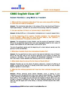 CBSE English Class 10th - Excellup.com