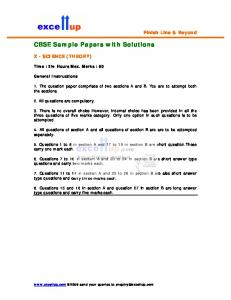 CBSE Sample Papers with Solutions - Excellup.com