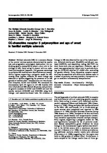 CC-chemokine receptor 5 polymorphism and age of ... - Springer Link