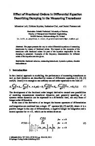 CCIS 239 - Effect of Fractional Orders in Differential ... - Springer Link