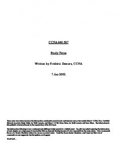 CCNA Study Notes - The Cisco Learning Network