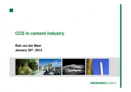 CCS in cement industry - IEA