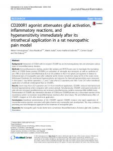 CD200R1 agonist attenuates glial activation, inflammatory ... - Core