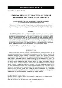 cd40/cd40 ligand interactions in immune responses and pulmonary ...
