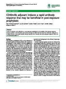 CD40mAb adjuvant induces a rapid antibody response ... - Springer Link