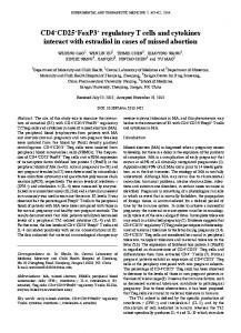 CD4+CD25+FoxP3+ regulatory T cells and cytokines interact with ...