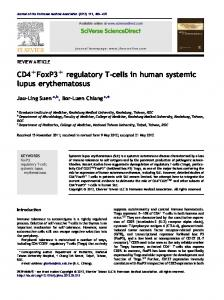 CD4+FoxP3+ regulatory T-cells in human systemic lupus ... - CORE