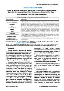 CD99 - Iranian Journal of Pathology
