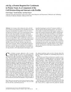 cdc12p, a Protein Required for Cytokinesis in Fission ... - BioMedSearch
