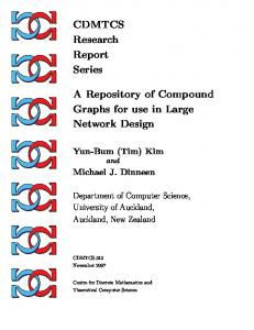CDMTCS Research Report Series A Repository of Compound Graphs