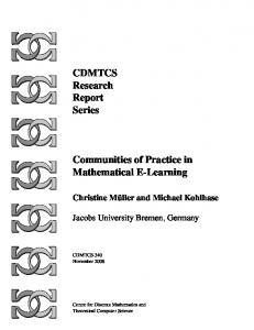 CDMTCS Research Report Series Communities ... - Computer Science