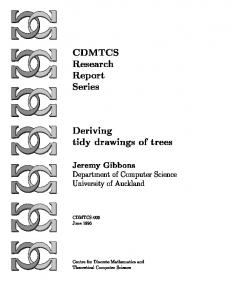CDMTCS Research Report Series Deriving tidy drawings of trees