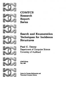 CDMTCS Research Report Series Search and Enumeration ...