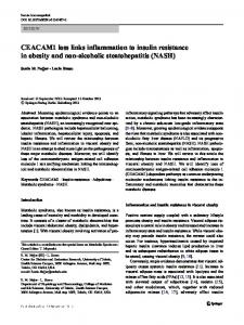 CEACAM1 loss links inflammation to insulin ...