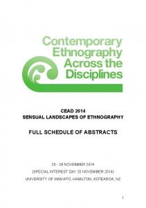 CEAD 2014 Full Schedule of Abstracts (master) - 2018 Contemporary ...