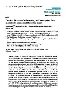 Celastrol Attenuates Inflammatory and Neuropathic ... - BioMedSearch
