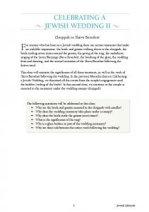 Celebrating a Jewish Wedding II.pdf - Morasha Syllabus