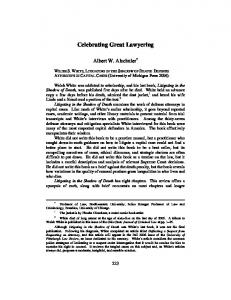 Celebrating Great Lawyering - Moritz College of Law