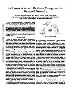 Cell Association and Handover Management in Femtocell Networks