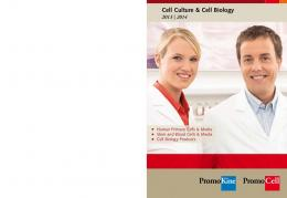 Cell Culture & Cell Biology - PromoCell