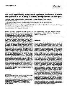 Cell cycle regulation by plant growth regulators - Springer Link