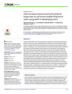 Cell-nonautonomous local and systemic responses to cell ... - PLOS
