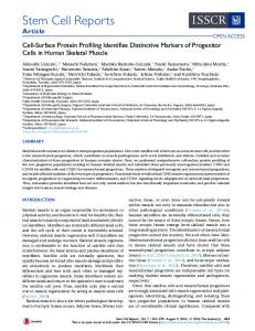 Cell-Surface Protein Profiling Identifies Distinctive Markers ... - Cell Press