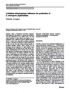 Cellobiose dehydrogenase influences the production ... - Springer Link