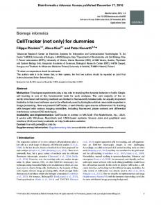 CellTracker (not only) for dummies (PDF Download Available)