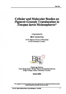 Cellular and Molecular Physiology of Melatonin Receptors in Xenopus