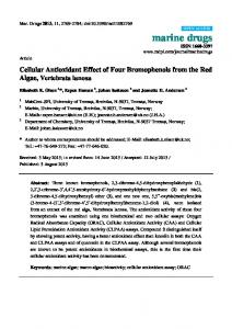 Cellular Antioxidant Effect of Four Bromophenols from the Red ... - MDPI