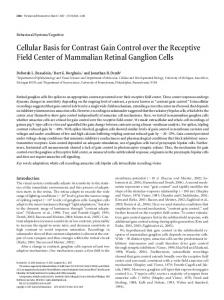 Cellular Basis for Contrast Gain Control over the ... - Semantic Scholar
