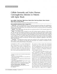 Cellular Immunity and Active Human Cytomegalovirus Infection in ...