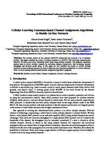 Cellular Learning Automata-based Channel ... - Semantic Scholar