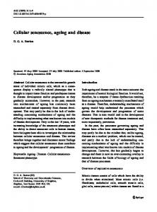 Cellular senescence, ageing and disease - SENS Research Foundation