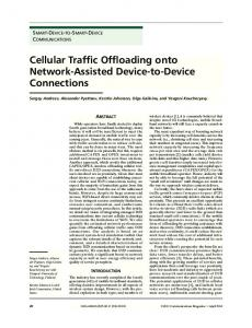 Cellular Traffic Offloading onto Network-Assisted Device ... - IEEE Xplore