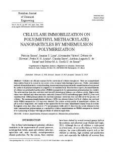 cellulase immobilization on poly(methyl methacrylate) - SciELO