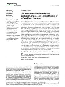 Cell‐free eukaryotic systems for the ... - Wiley Online Library