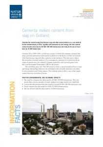 Cementa makes cement from slag on Gotland