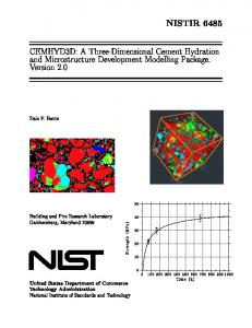 CEMHYD3D - NIST - National Institute of Standards and Technology