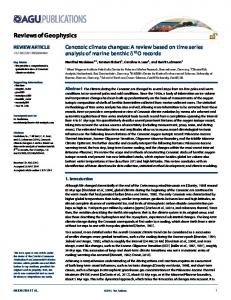 Cenozoic climate changes: A review based on ... - Manfred Mudelsee