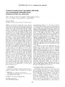 Cenozoic tectonics of the Cape Roberts Rift ... - Wiley Online Library