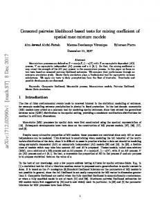 Censored pairwise likelihood-based tests for mixing coefficient of ...
